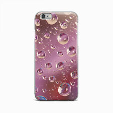 Pink Raindrop Water Hard Case Cover For Apple iPhone 4 4S 5 5S 5c SE 6 6S 7 Plus
