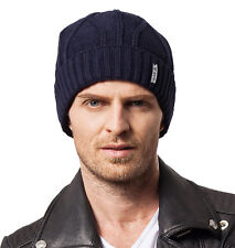 New Skullies Beanies Knit Men's Caps Wool Knitted Winter Hats for Men