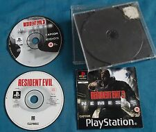 Resident Evil 1 and 3 Incomplete Bundle Playstation PS1 Discs Tested & Working