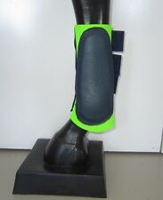 Horse Splint or Brush Boots Lime & Navy blue AUSTRALIAN MADE Choose your size