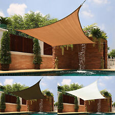 Sun Shade Sail Awning Outdoor Canopy Patio Pool Square Medium Top Cover Shelter