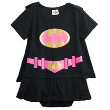 Baby Girl Batgirl Costume Romper Onesie with Cape 3-18 Months