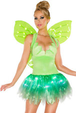 J Valentine green tinker bell light up adult costume