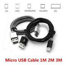 1M 2M 3M Micro USB Charger Data Cable For Samsung Galaxy S4 S6 S7 Edge Note