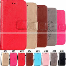 For Motorola PU Leather Embossed Wallet Flip Stand Phone Protective Case Cover