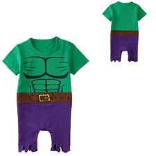 Baby Boy Green Hulk Costume Romper Infant Onesie Short Sleeves
