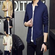 New Men Casual Coat Autumn Jacket Business Outwear Polyester Silm Fit Suit Dress