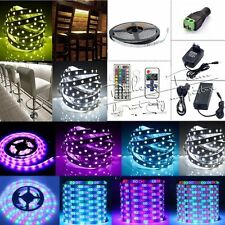 5M SMD 150/300/600LEDs 3528 5050 5630 3014 RGB LED Strip Lamp For Xmas Adapter