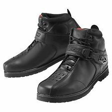 Mens Icon Superduty 4 Motorcycle Leather Boots Black All Sizes