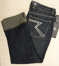 NWT ROCK & REPUBLIC Cropped Capris Jeans BOTTOMS UP Kendall Cuff 2 4 12 14 Capri