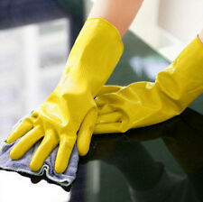 Yellow Laundry Clean Rubber Protective New Dishwashing Waterproof Gloves Orange