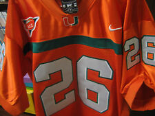 MIAMI HURRICANES #26 SEAN TAYLOR COLLEGE THROWBACK ALL SEWN JERSEY MENS redskin