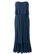 Womens PLUS size 20 22 24 26 28 DRESS crinkle viscose summer casual maxi dress