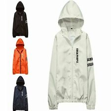 Fashion Men Thin Fit Hooded Trench Jacket Outdoor Coat New Outwear Autumn