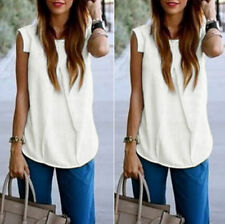 Casual Ladies Shirt Blouse Vest Tops Sleeveless New Summer Women Loose