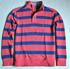 NWT MEN TOMMY HILFIGER STRIPED CLASSIC FIT HENLEY LONG SLEEVE SHIRT SWEATER SZ L