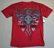 NWT MEN'S EXTREME XTREME COUTURE BY AFFLICTION ERADICATE SS TSHIRT SZ XL X1177