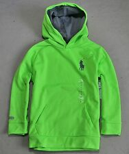 NWT KIDS BOYS POLO RALPH LAUREN RUGBY BIG PONY PULLOVER JACKET HOODIE SZ 7