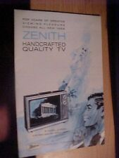 1968 ZENITH TV Television SPACE COMMAND REMOTE Catalog Brochure ship free