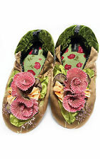 """NEW Goody Goody Bon Bon comfy Silk Slippers """"Kelly"""" Womens size Small - Large"""