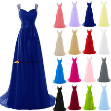 2016 New Stock Formal Long Wedding Bridesmaid Dress Evening Prom Party Ball Gown
