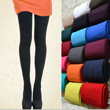 120D Warm Soft Stretchy Footed Thick Opaque Stockings Pantyhose Solid Tights