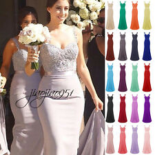 New STOCK Formal Prom Party Ball Evening Gown Long Bridesmaid Dress 6-18 Custom