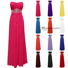 New Hot STOCK Formal Long Bridesmaid Dress Prom Party Evening Cocktail Gown 6-20