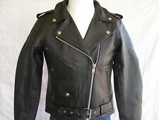 MOTORCYCLE LEATHER JACKET BRANDO FOR WOMEN SIZES XXS TO 5XL