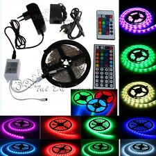 5M 5050 150LED/300LEDs RGB LED Flexible Light Strip Lights 24/44key Power Supply