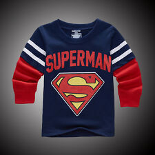 Baby Boys Kids Long Sleeve Round Neck Tops T Shirts Pullover Outwear Clothes Tee