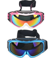 Unisex Adults Snowboard Ski Goggles UV Anti-Fog Double Mirrored Lens Glasses