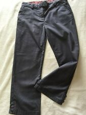 Per Una Marks M&S Grey Cropped Stretch Jeans Size 8 Pedal Pusher Style