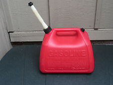 Vintage GOTT Rubbermaid 5 Gallon Gas Can vented flexible spout cap Pre-Ban EVC