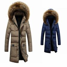 Winter Men Hooded Jacket Parka Trench Coat Warm Outwear New Down Cotton Padded
