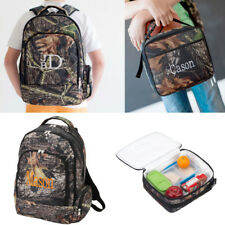 PERSONALIZED MONOGRAMMED CAMO WOODS BACKPACK or LUNCH TOTE 2 CHOICES SCHOOL CAMP