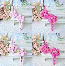 Girl Baby Toddler Infant Headband Hair Bow Band Accessories Clip Barrette Pair