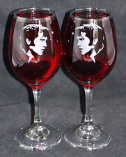 "New Etched ""Elvis Presley"" Stylish Wine Glasses - 1 or 2 - Optional Gift Box WM3"