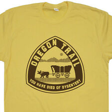 Oregon Trail T Shirt You Have Died of Dysentery Tee Shirt Retro Video Game Shirt