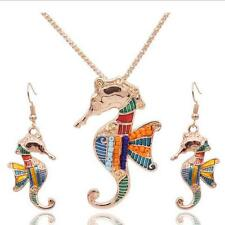 Vintage Earring 2016 Hippocampus Women Wings Necklace Jewelry Sets Resin Bohemia