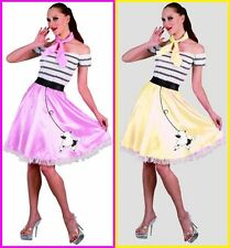 Adult SANDY Poodle Skirt COSTUME Sandra D Grease 50s Rock Roll Rockabilly Party