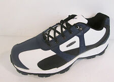 Mens Dri-tec sport 300 Golf shoes in white/navy and black by Hi-tec