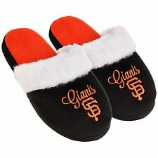 SF San Francisco Giants  Womens Colorblock Fur Slide Slippers MLB New Style