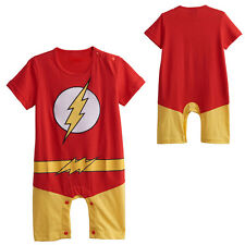 Baby Boy The Flash Costume Party Romper Funny Infant Onesie 6-24 Months