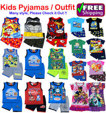 NEW SZ 1~12 KIDS PYJAMAS BOYS GIRLS SUMMER OUTFIT PJ SLEEPWEAR TSHIRT TOP PJS