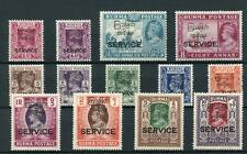Burma 1947 Official set SGO41/53 MLH/MM - High values all MLH
