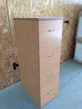 Beech 4 Drawer Filing Cabinet