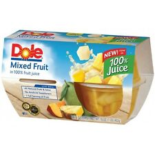 Dole Fruit Cups 4 0z. Peaches Mixed Fruit Pineapple Pear Lot of 16