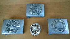 German set of Belt Buckles and Badge WWI / WWII