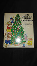 The Animals Merry Christmas Vintage Childrens Hardback Book (1977)